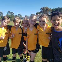 Girls and boys football team