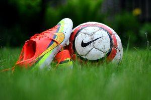 Football boot and ball